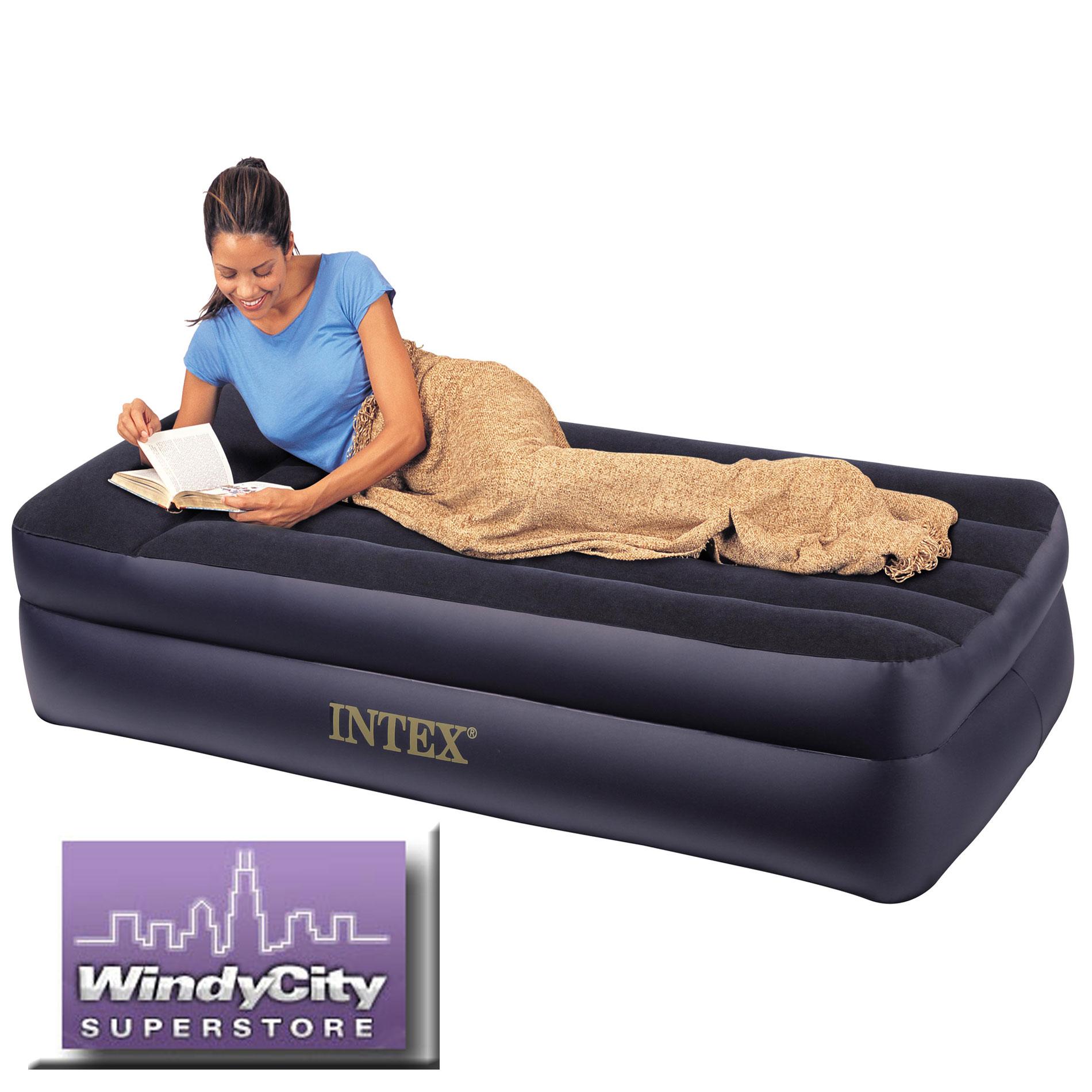 Надувная кровать Intex 66706 Pillow Rest Raised Bed.